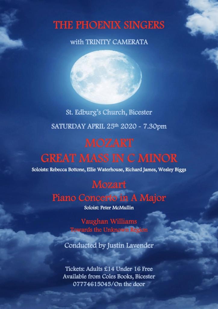 Mozart Great Mass - April 2020 - Full Poster